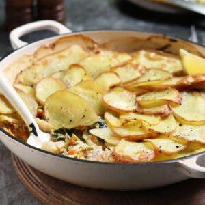 Potato-Topped Pie
